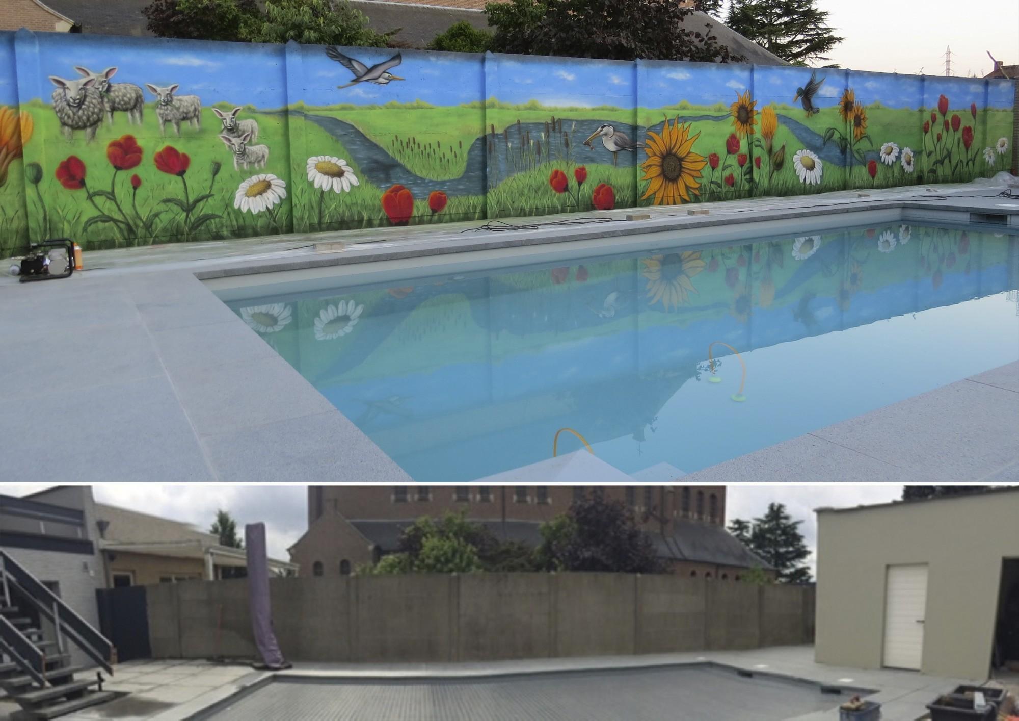 Voor en na inge kennis for Ondergrond zwembad tuin