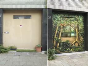 Voor en Na Muurschildering Natiebuurt Antwerpen